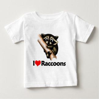 I Love Raccoons Baby T-Shirt
