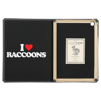 I LOVE RACCOONS COVER FOR iPad AIR