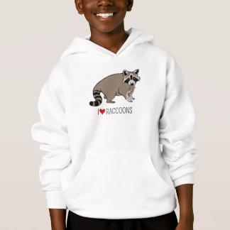 I Love Raccoons Hoodie