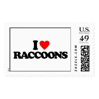 I LOVE RACCOONS STAMP