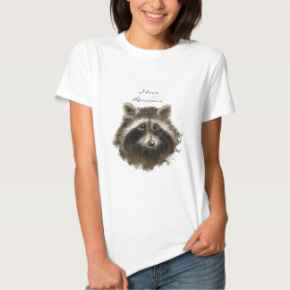 I love Raccoons, Quote , Cute Animal Collection Shirt