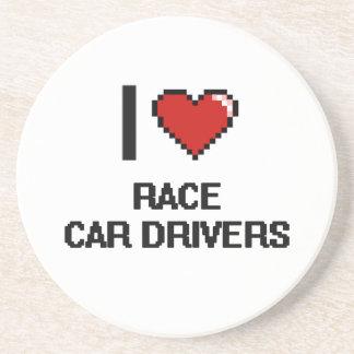 I love Race Car Drivers Beverage Coaster