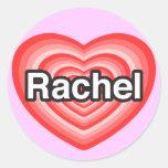 I love Rachel. I love you Rachel. Heart Sticker