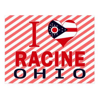 I love Racine, Ohio Postcards
