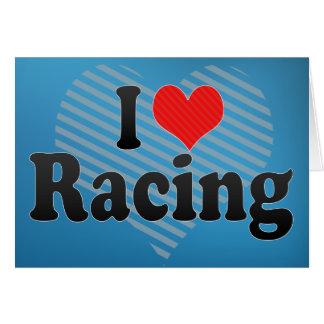 I Love Racing Card