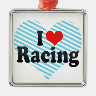 I Love Racing Christmas Tree Ornaments
