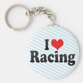 I Love Racing Key Chain