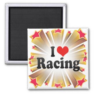 I Love Racing Magnets