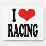 I Love Racing Mouse Pad