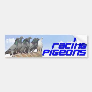 I love racing pigeons pegatina para auto