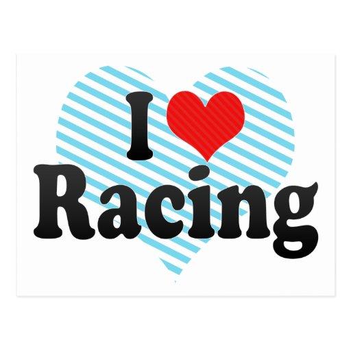 I Love Racing Postcard