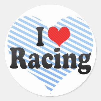 I Love Racing Stickers