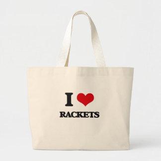 I Love Rackets Canvas Bags