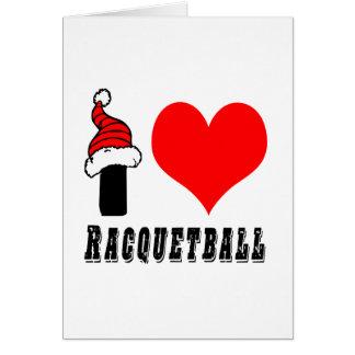 I Love Racquetball Design Greeting Card