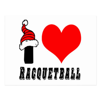 I Love Racquetball Design Post Cards