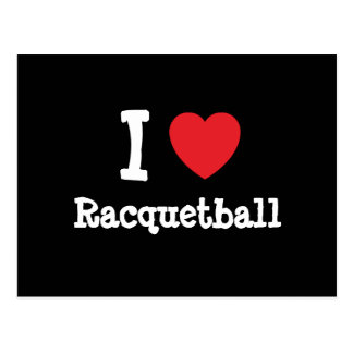 I love Racquetball heart custom personalized Post Cards