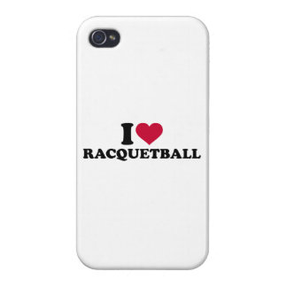 I love Racquetball iPhone 4/4S Cases
