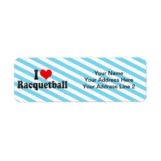 I Love Racquetball Custom Return Address Label