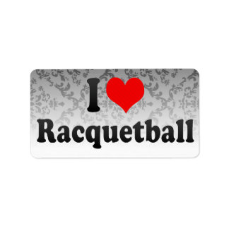 I love Racquetball Custom Address Label