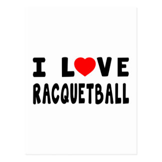 I Love Racquetball Post Cards