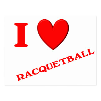 I Love Racquetball Postcards