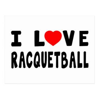 I Love Racquetball Post Card