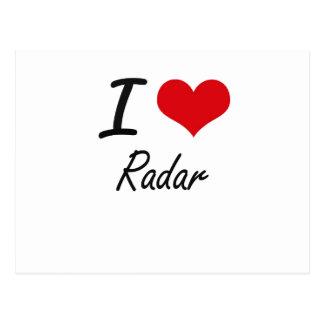I Love Radar Postcard
