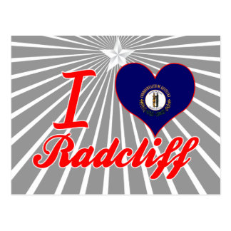 I Love Radcliff, Kentucky Postcard