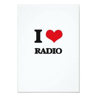 I love Radio 3.5x5 Paper Invitation Card