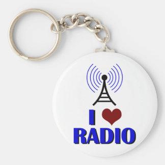 I Love Radio Basic Round Button Keychain