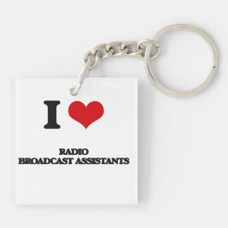 I love Radio Broadcast Assistants Keychains