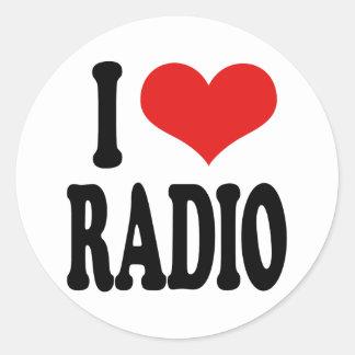 I Love Radio Classic Round Sticker