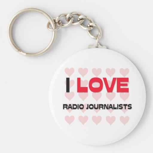 I LOVE RADIO JOURNALISTS BASIC ROUND BUTTON KEYCHAIN