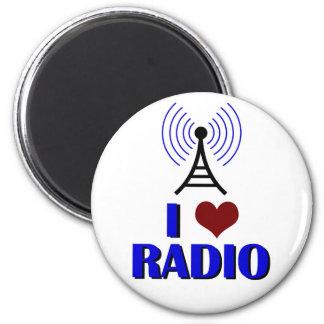 I Love Radio 2 Inch Round Magnet