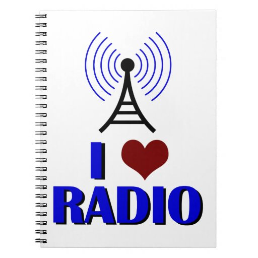 Citaten Love Radio : I love radio notebook zazzle