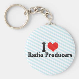 I Love Radio Producers Basic Round Button Keychain