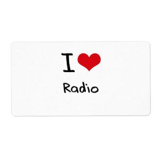 I love Radio Shipping Label