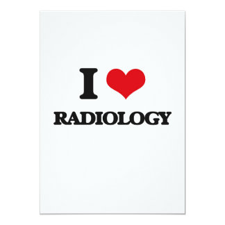 I Love Radiology 5x7 Paper Invitation Card