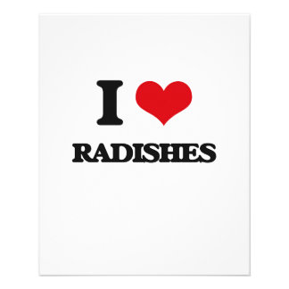 """I Love Radishes 4.5"""" X 5.6"""" Flyer"""