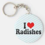 I Love Radishes Key Chain