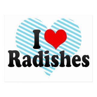 I Love Radishes Postcard