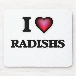 I Love Radishs Mouse Pad
