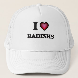 I Love Radishs Trucker Hat
