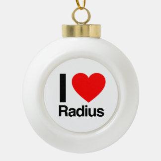 i love radius ceramic ball christmas ornament