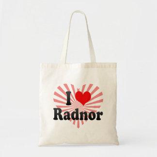 I Love Radnor, United States Tote Bags