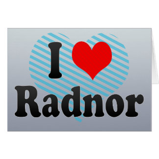 I Love Radnor, United States Card