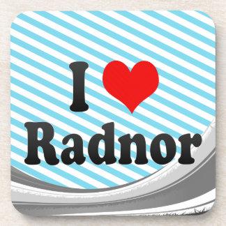I Love Radnor, United States Drink Coaster