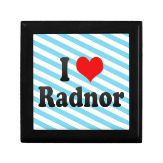 I Love Radnor, United States Jewelry Boxes