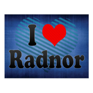 I Love Radnor, United States Post Card