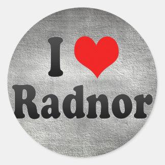 I Love Radnor, United States Sticker